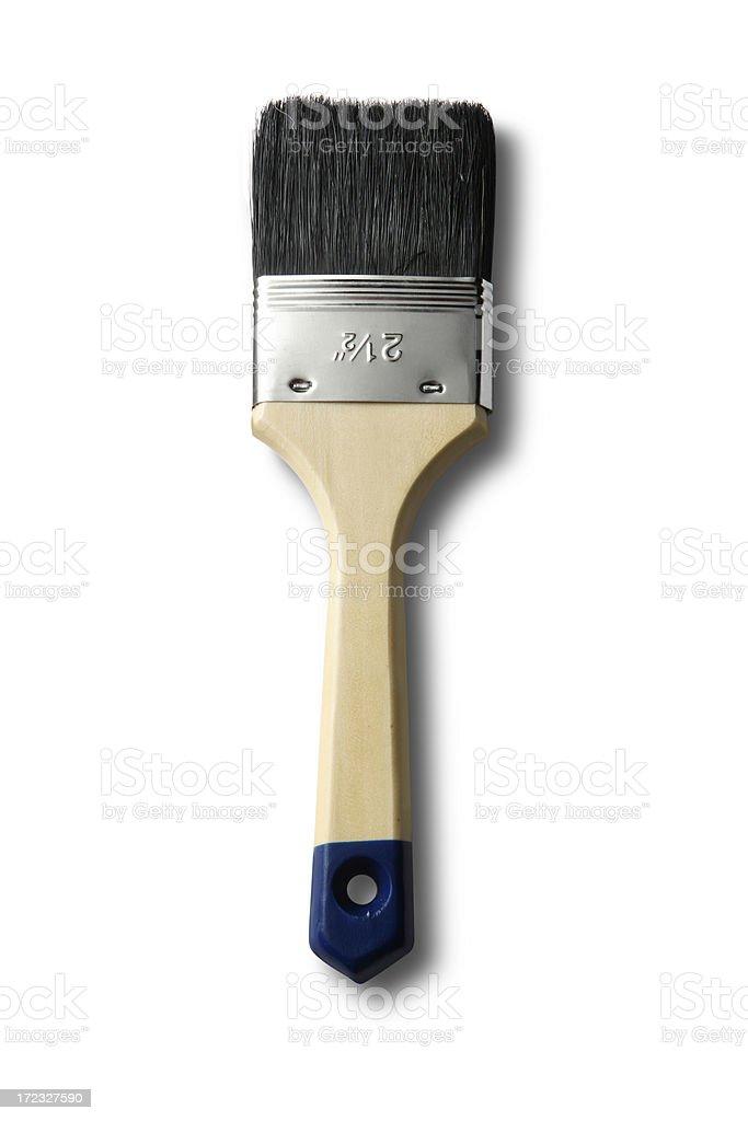 Paint: Paint Brush Isolated on White Background royalty-free stock photo