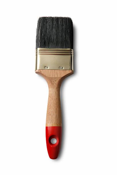 Paint: Paint Brush Isolated on White Background stock photo