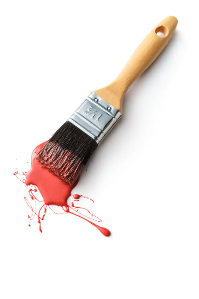 Paint: Paint Brush Isolated on White Background Paint: Paint Brush Isolated on White Background paintbrush stock pictures, royalty-free photos & images