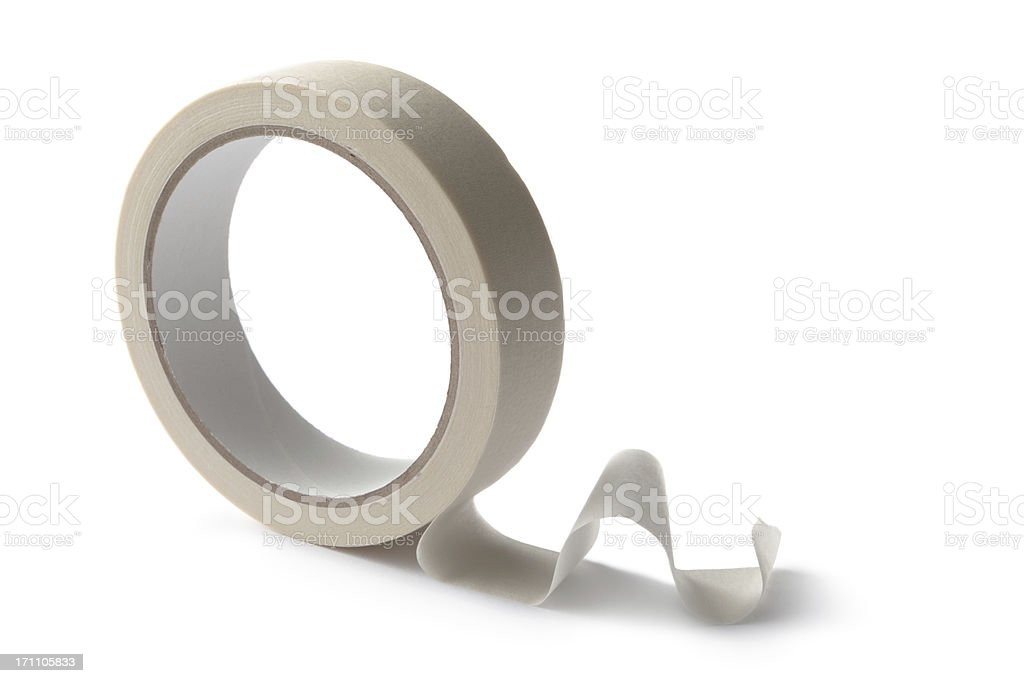 Paint: Paint Tape Isolated on White Background royalty-free stock photo