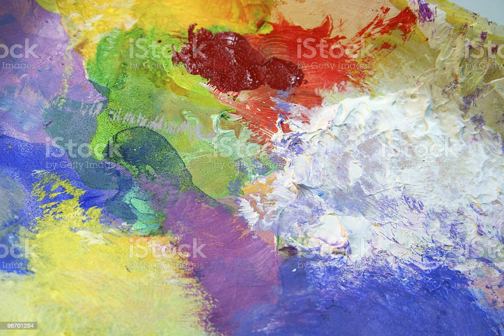 Paint palette colors (acrylics) royalty-free stock photo