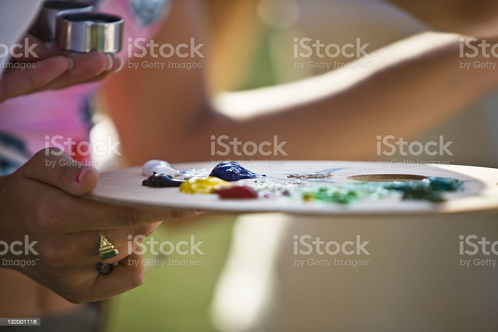 Paint Palette royalty-free stock photo