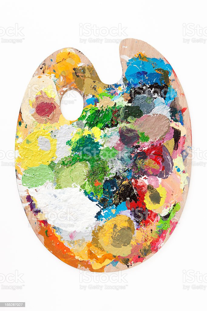 Paint palette stock photo