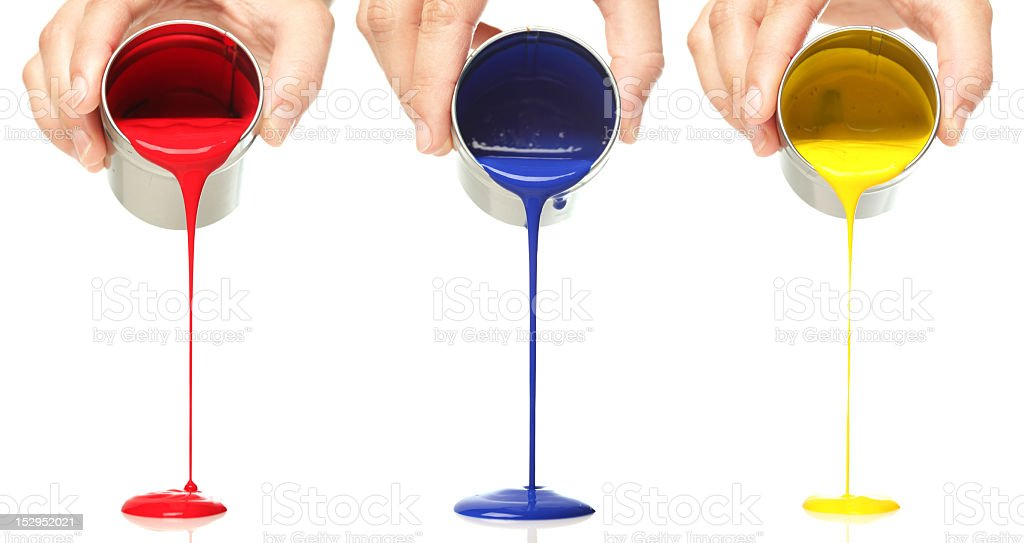 Paint pouring royalty-free stock photo