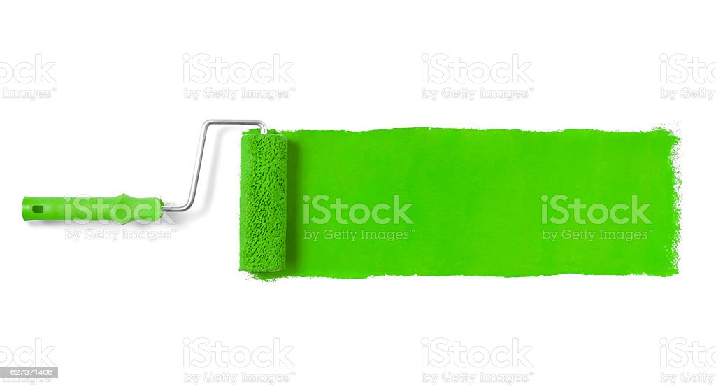 Paint roller isolated on white stock photo