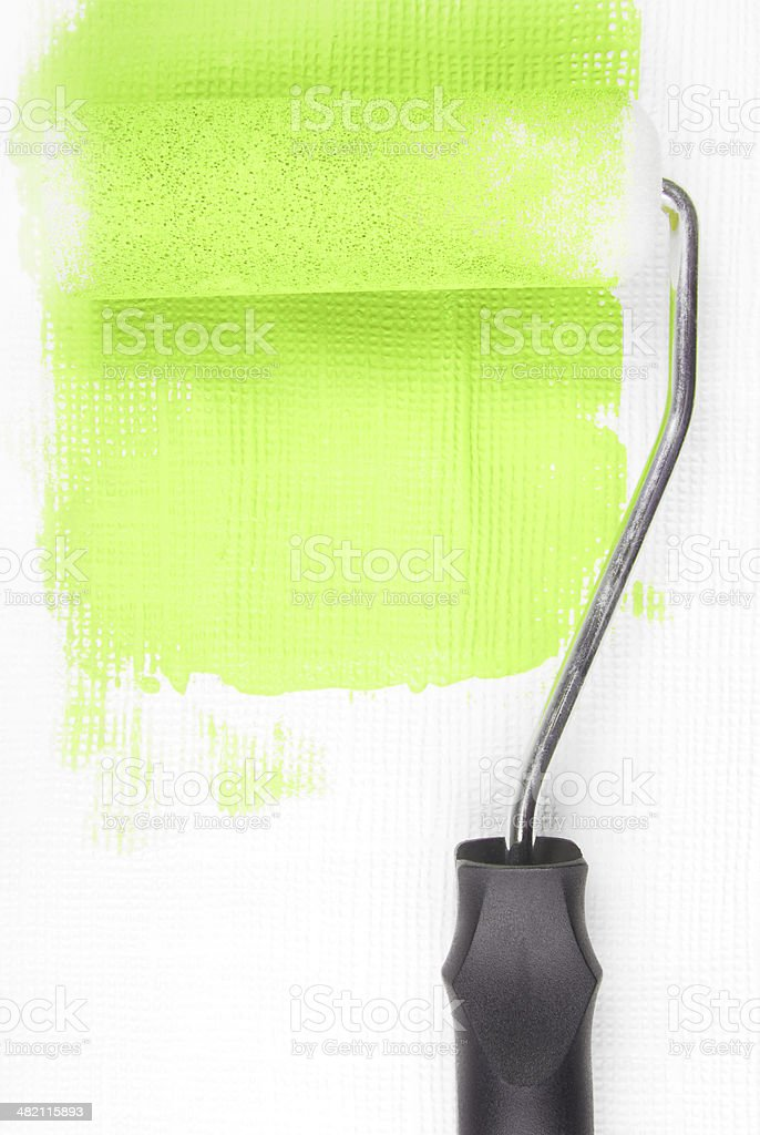 paint roller royalty-free stock photo