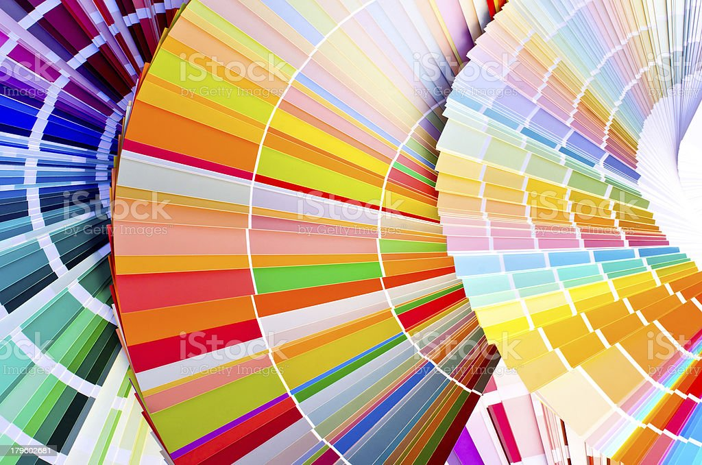 Paint samples. royalty-free stock photo
