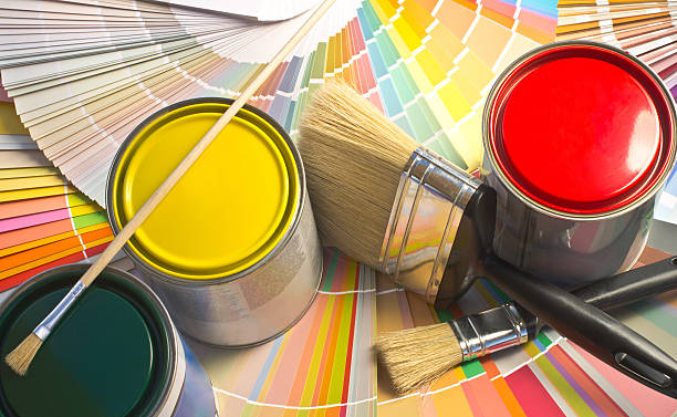 Paint samples. stock photo