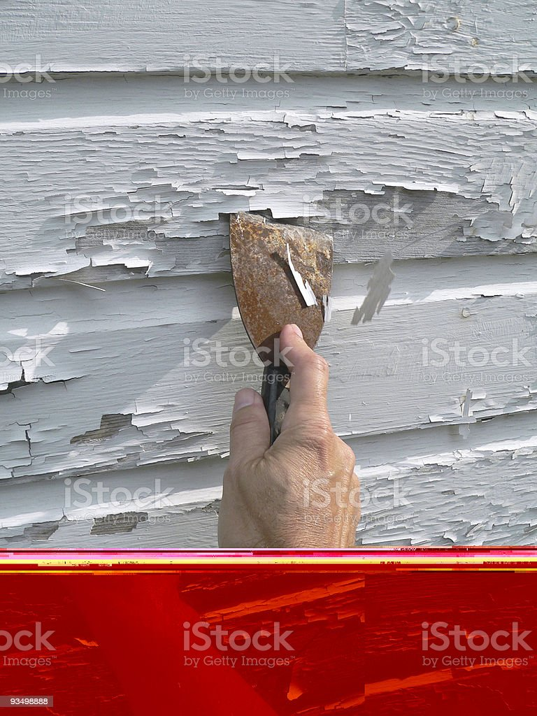 Paint Scraper royalty-free stock photo