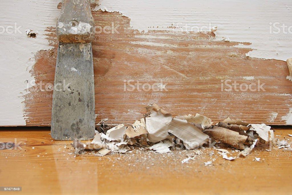 Paint scraping tool stock photo