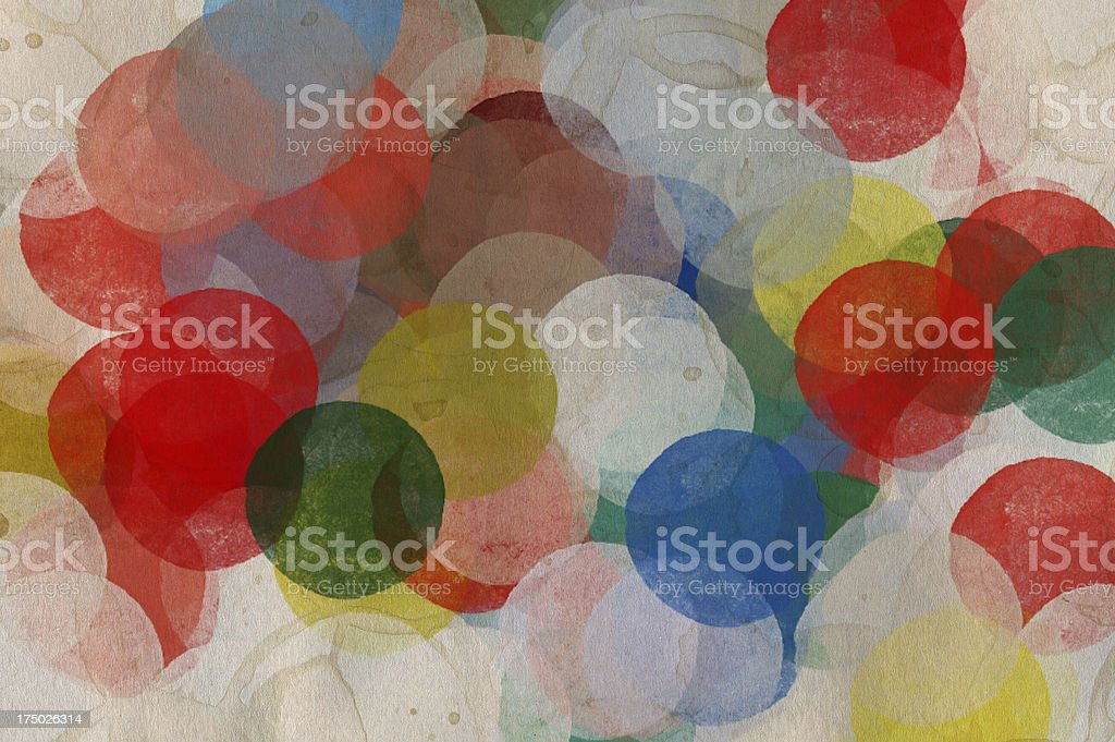 paint smudged circles royalty-free stock photo