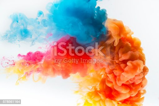 istock Paint splash on a white background. 578561164