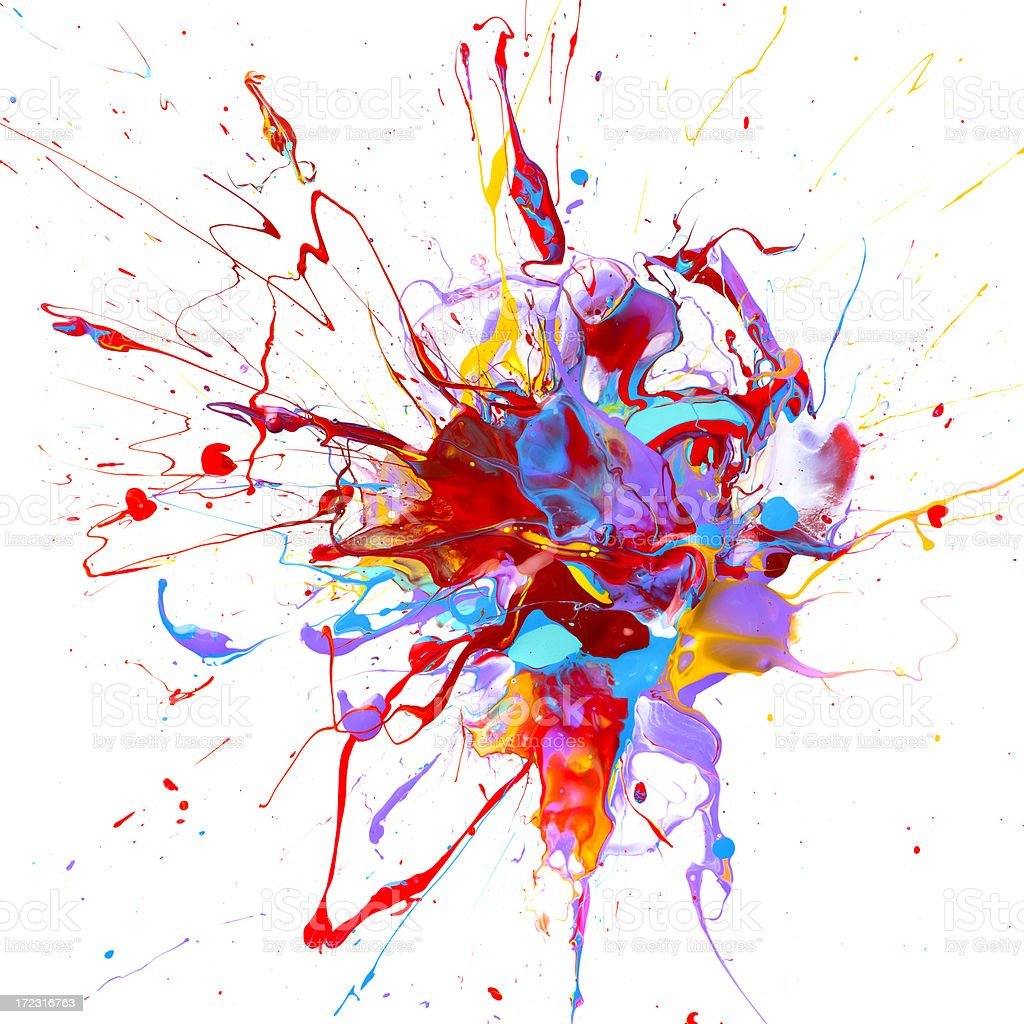 paint splash royalty-free stock photo