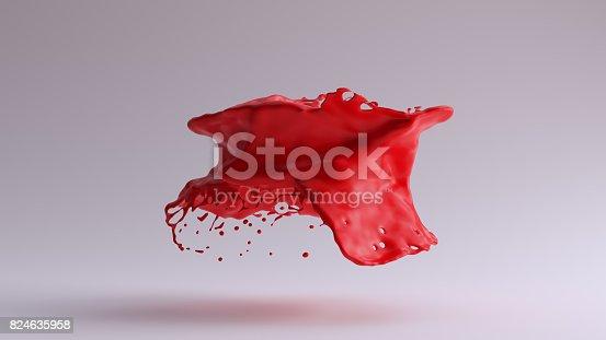 istock Paint Splash Red 824635958
