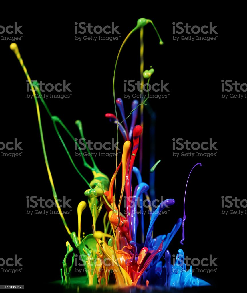 Paint splashing royalty-free stock photo
