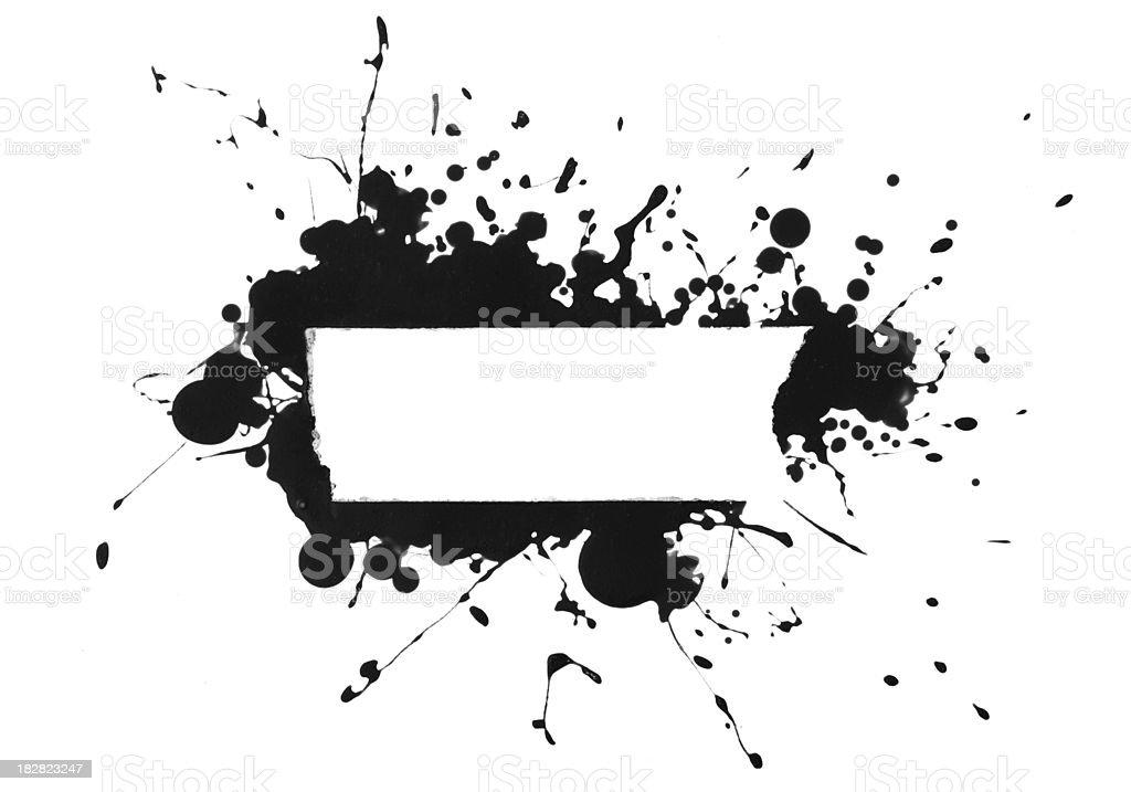 Paint Splatter Banner royalty-free stock photo