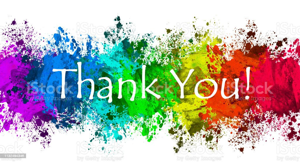Paint Splatter - Thank You - Royalty-free Thank You - Phrase Stock Photo