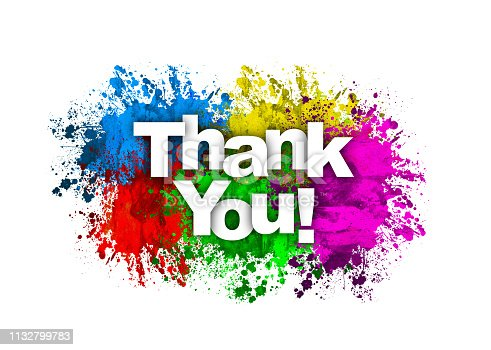 Thank You Message with colorful background