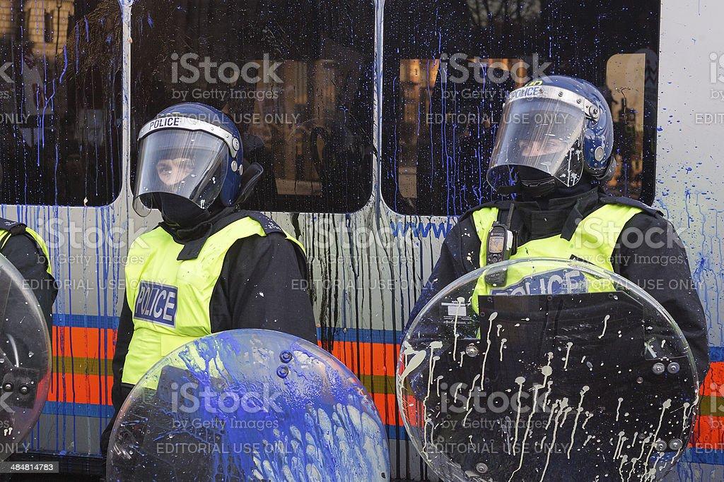 Paint Splattered Uk Riot Policelondonuk Stock Photo