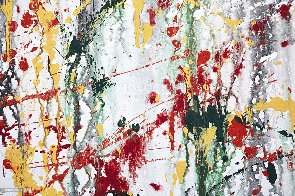 Paint Splatters On Wall, Abstract royalty-free stock photo