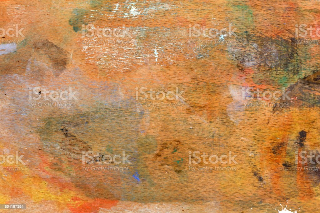 Paint Stained Wooden Surface royalty-free stock photo