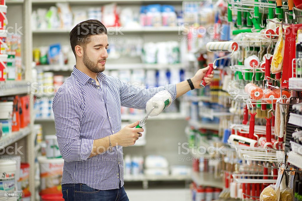 paint store stock photo