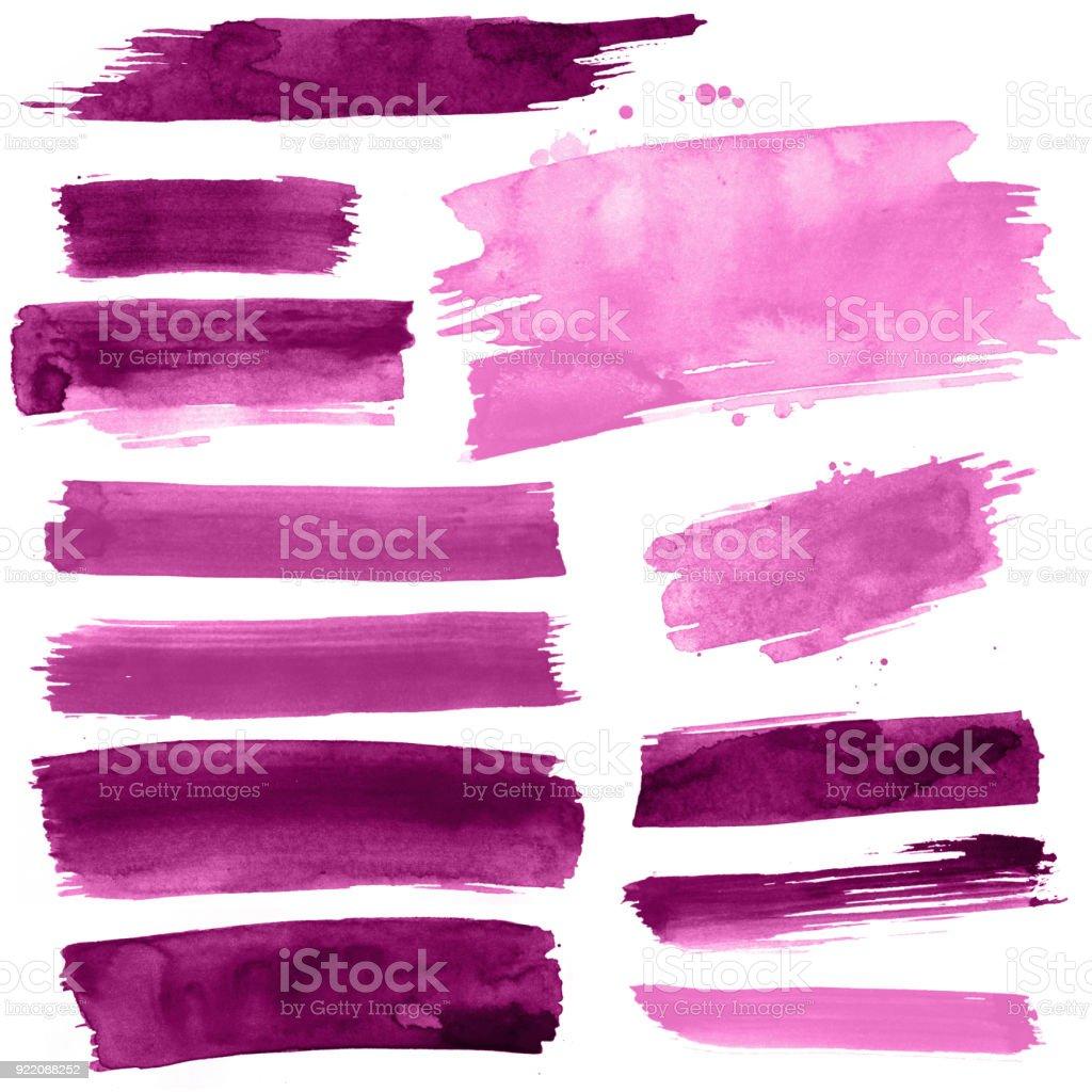 Paint strokes stock photo