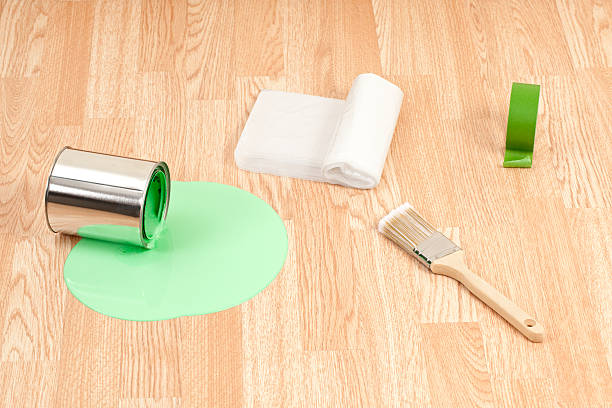 Royalty free paint spill on floor pictures images and stock photos istock - Wandfarbe flecken entfernen boden ...