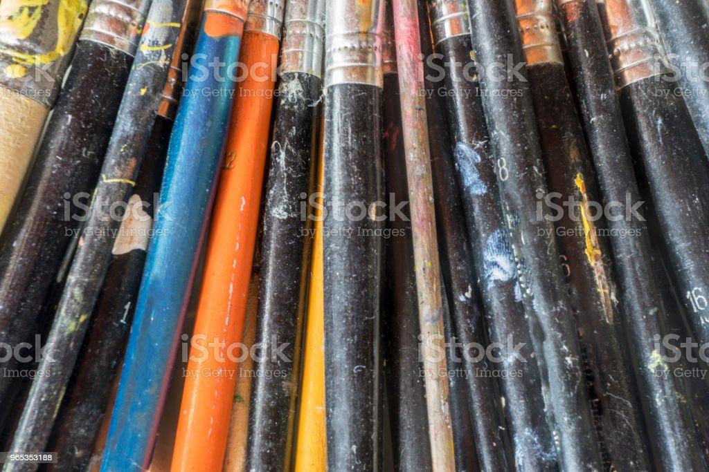 油漆用品 - 免版稅一組物體圖庫照片