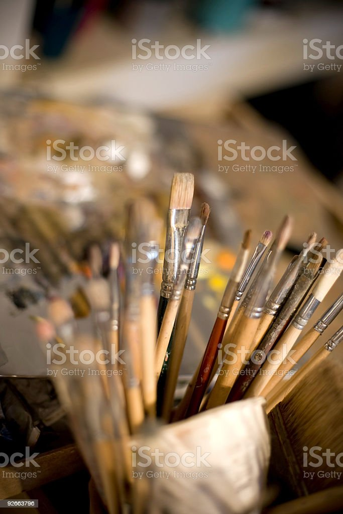 paint tools royalty-free stock photo