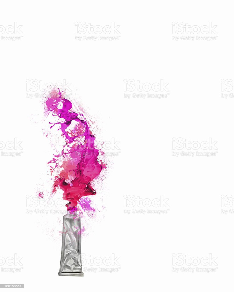 Paint tube royalty-free stock photo