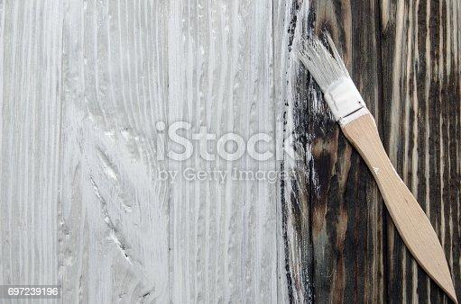 istock paint white paint boards old tassel 697239196