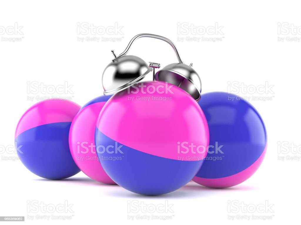 Paintball balls alarm clock royalty-free stock photo