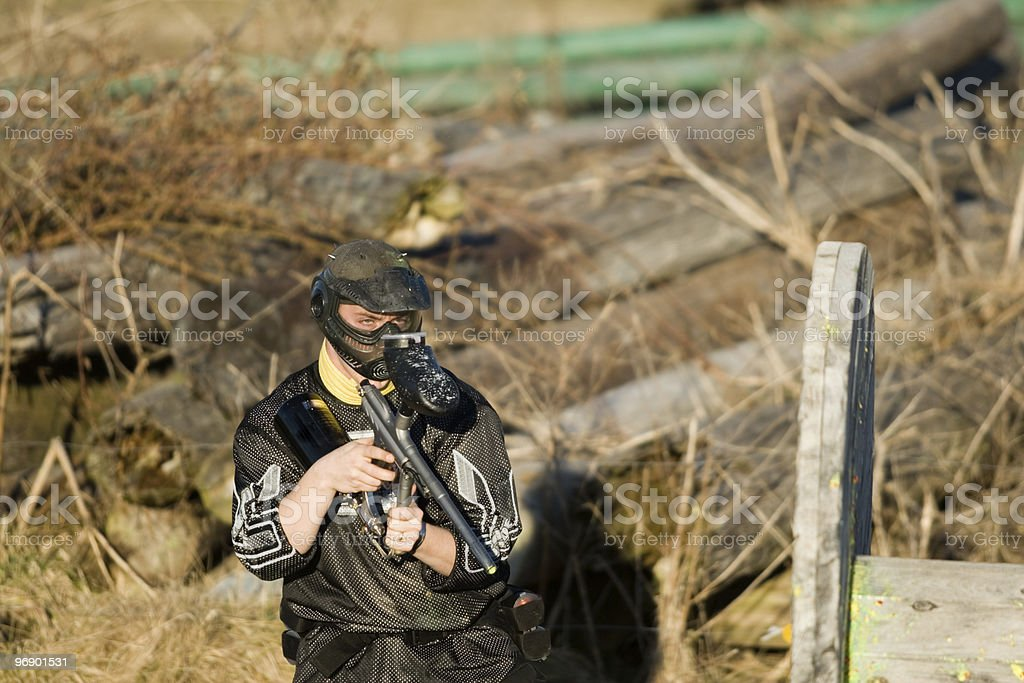 Paintball Competition royalty-free stock photo