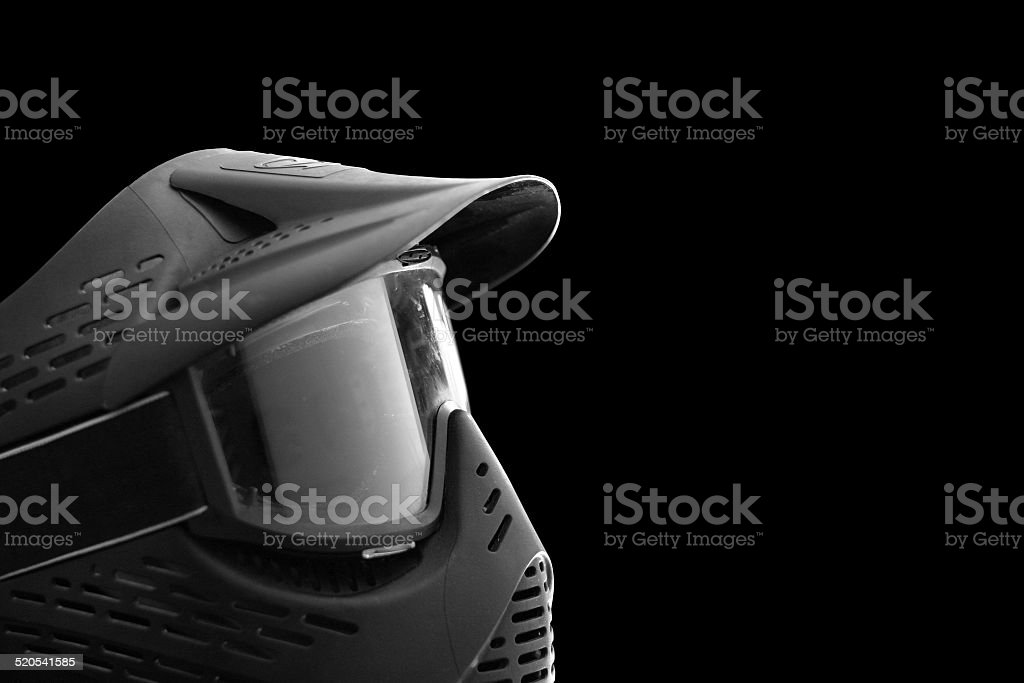 Paintball extreme sport protective equipment mask stock photo