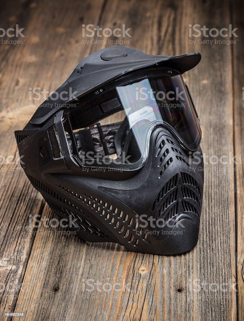 Paintball mask stock photo