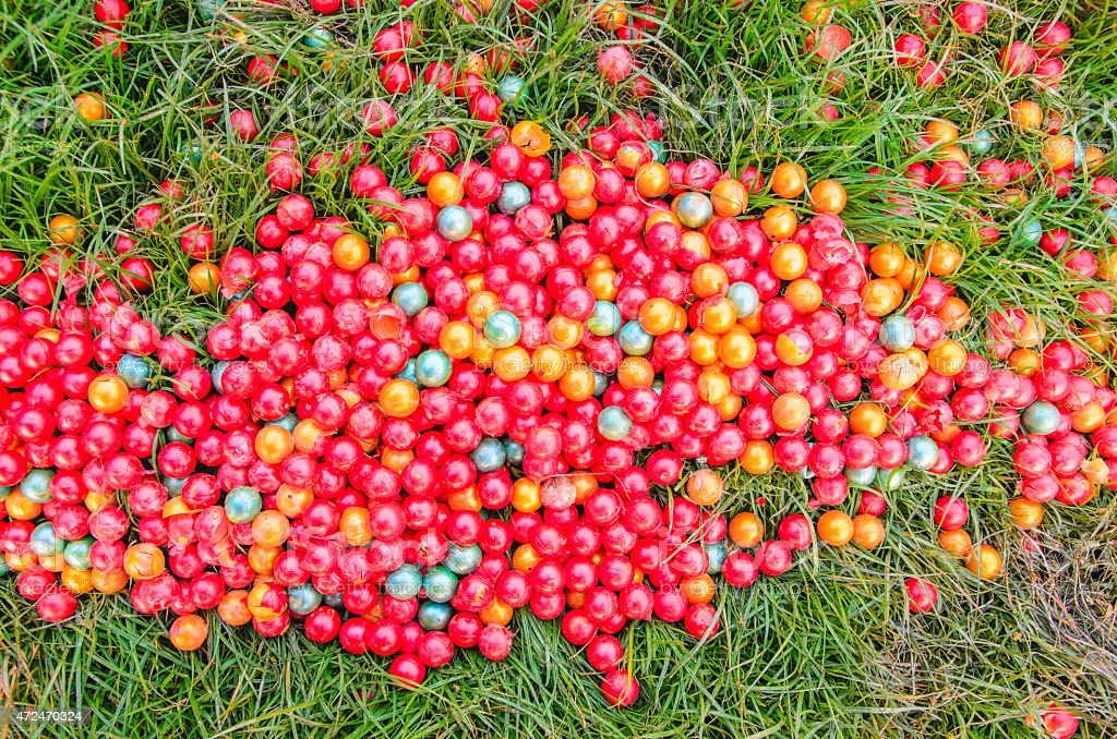 Paintball of ground stock photo