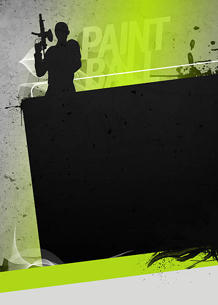 Paintball or airsoft background stock photo