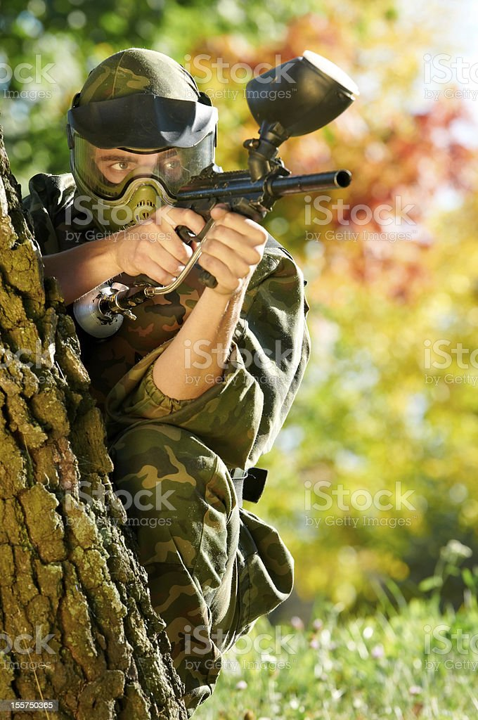 paintball player royalty-free stock photo