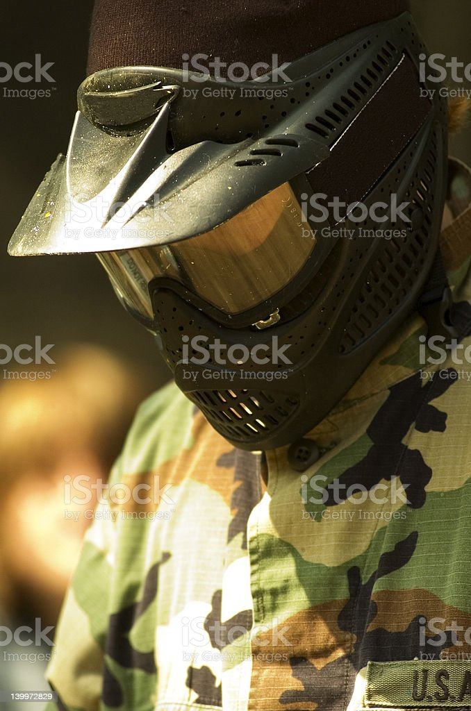 Paintball Soldier Closeup royalty-free stock photo