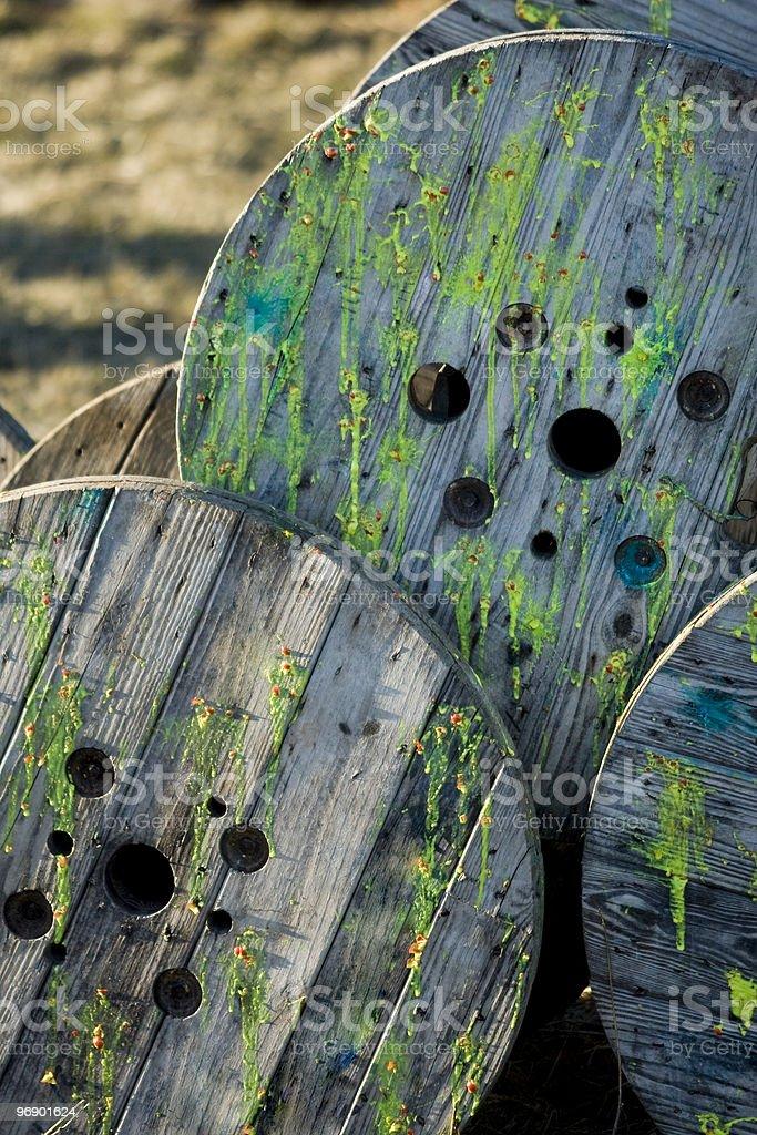 Paintball Spools royalty-free stock photo
