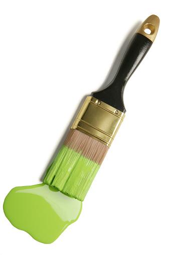 paintbrush and paint blob