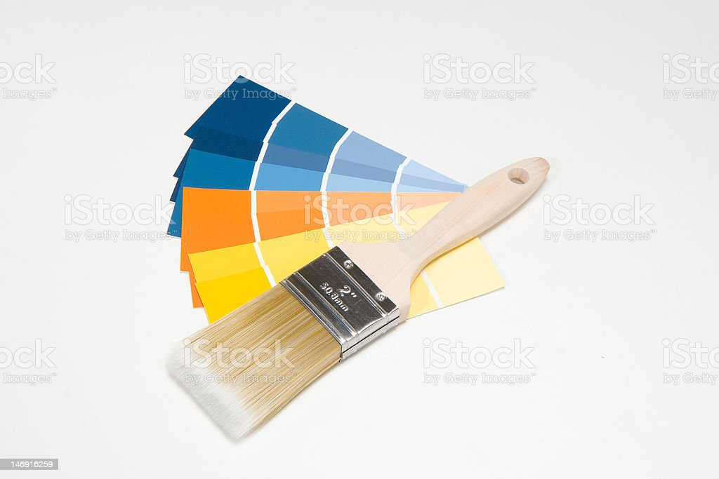 Paintbrush and Swatches royalty-free stock photo