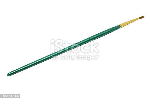 istock paintbrush isolated on white background 483790366