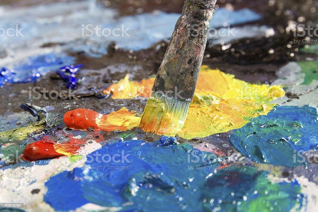 Pinsel aus Öl Farben Lizenzfreies stock-foto