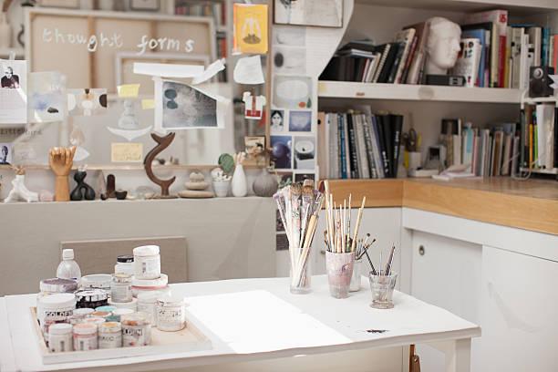 Pinceau en pots en Atelier d'artiste - Photo