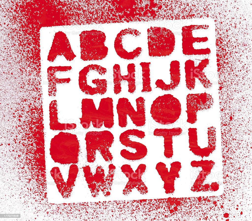 Painted Alphabet royalty-free stock photo