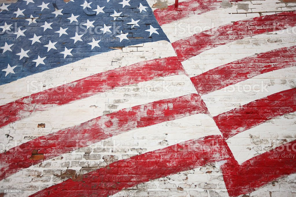 Painted American Flag stock photo