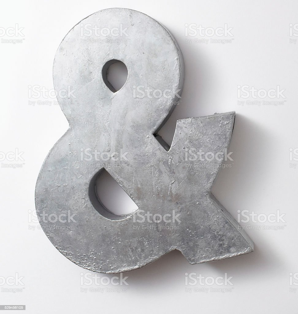 Painted Ampersand stock photo