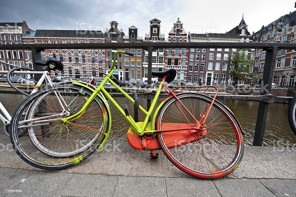 Painted Bicycle royalty-free stock photo
